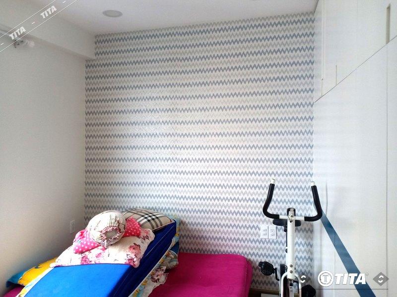 giấy dán tường phòng ngủ hình gợn sóng