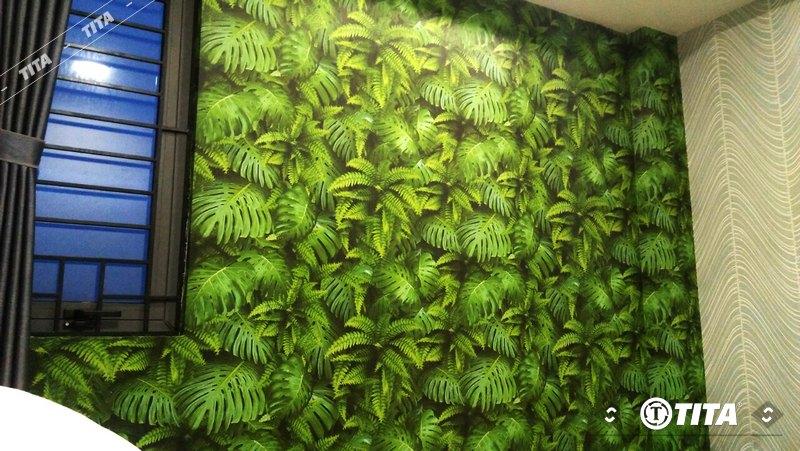 giấy dán tường phòng ngủ mẫu cây xanh