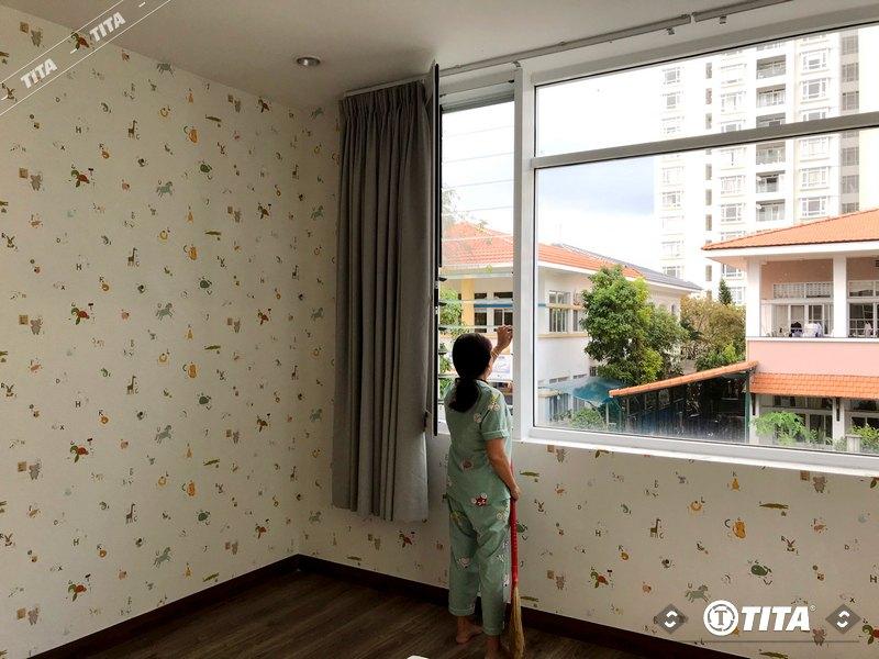 giấy dán tường phòng ngủ cho bé hình hoạt hình