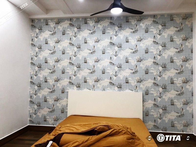 giấy dán tường phòng ngủ hiện đại 54681-1