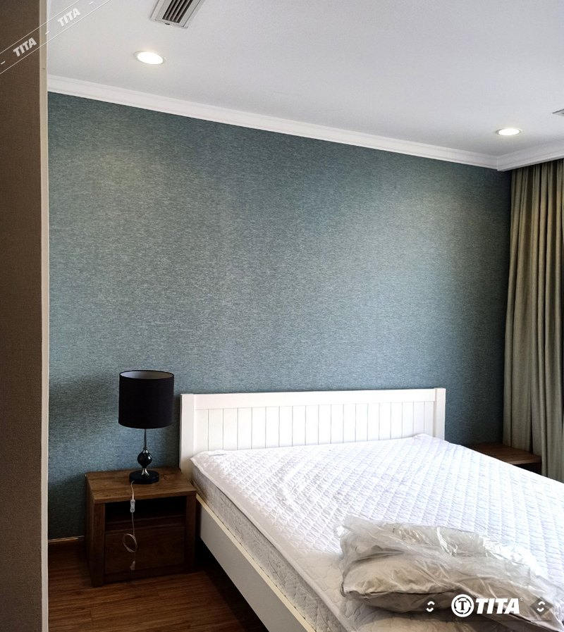giấy dán tường phòng ngủ màu xám trơn 5462-1