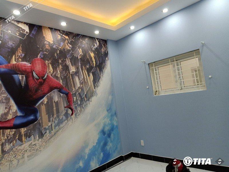 trang trí tranh dán tường cho phòng ngủ bé trai