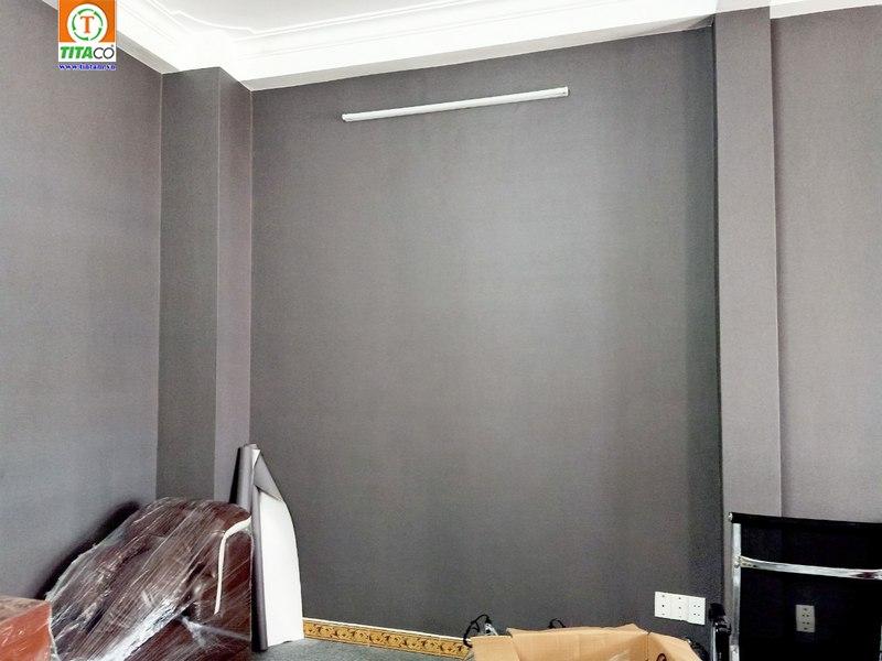 giấy dán tường phòng ngủ màu xám