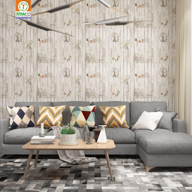 mẫu giấy dán tường hoa văn hiện đại cho phòng khách
