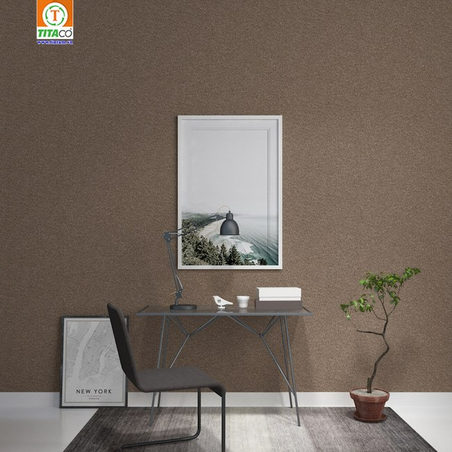 giấy dán tường trơn cho phòng khách hiện đại sang trọng