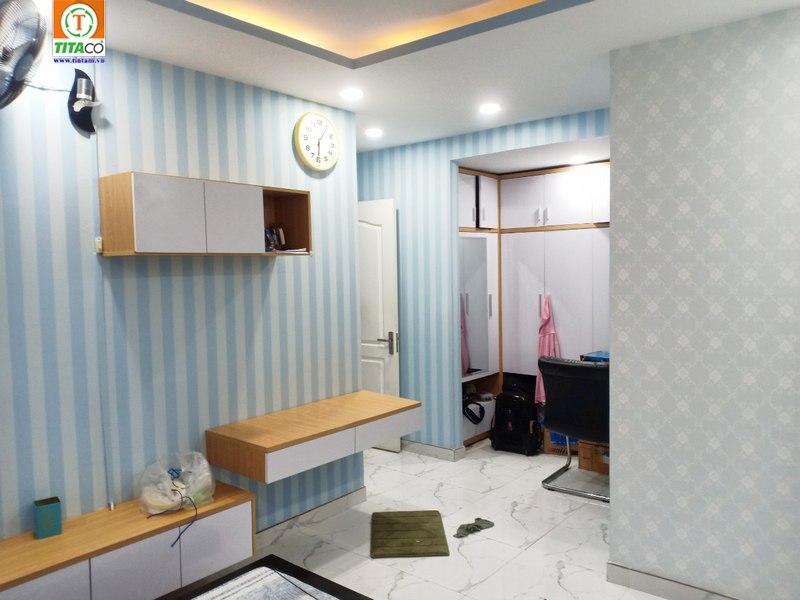 mẫu giấy dán tường hiện đại cho phòng khách