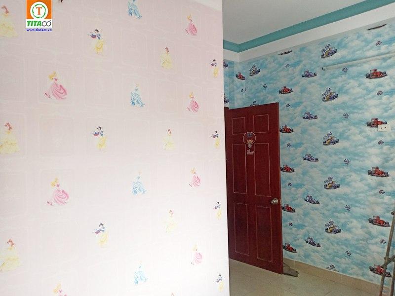 giấy dán tường phòng ngủ phòng bé cho trẻ em
