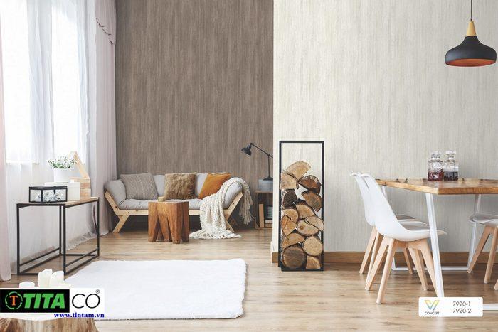 giấy dán tường phòng khách đẹp mẫu trơn 1 màu sang trọng